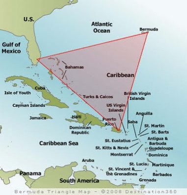 bermuda triangle map Top 10 Teori Tentang Misteri Segitiga Bermuda